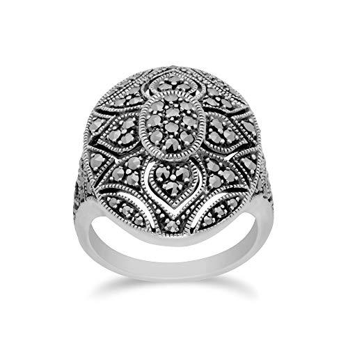 Gemondo USA 925 Sterling Silver Marcasite Ring (10)