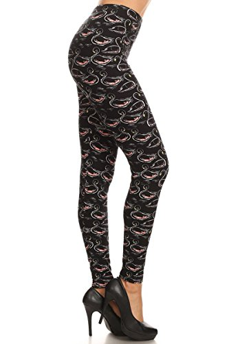 's Ultra Soft Printed Fashion Leggings BAT28 (Le Petit Swan, Extra Plus (1X-3X / Size 14W-22W) ()