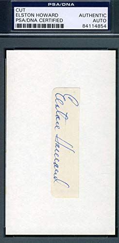 ELSTON HOWARD PSA DNA COA Autograph 3x5 Cut Signed Index Card
