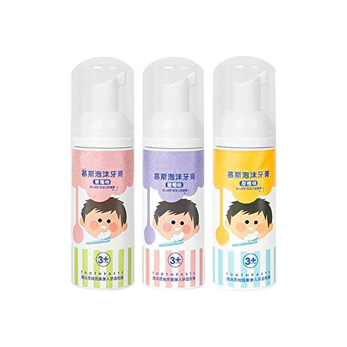 Luerme Kids Cavity Protection Toothpaste Children's Toothpaste Swallowable Mousse Bling Foam Whitening Teeth Gum Care Toothpaste for Kids