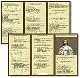 Mass Prayer and Responses Pocket Card 2013 Michael Adams Laminated Card Stock Pack of 24