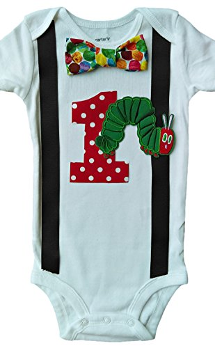 Baby Boys 1st Birthday Hungry Caterpillar Bodysuit