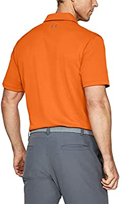 Under Armour Tech Polo, Hombre, Naranja (Team Orange/Graphite 800 ...