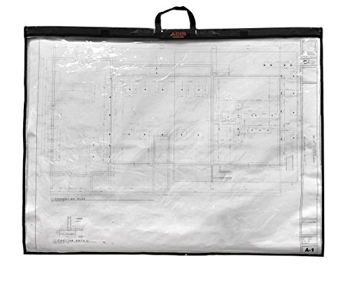 Adir Corp. PS3648 Foldable Waterproof Plans Shield - Blueprint Shield - Plans Carrier - Blueprint Carrier - Map Case - Map Shield - Document Case (36 x 48)