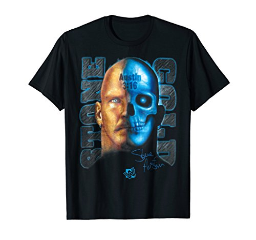 WWE Stone Cold Steve Austin Skull Graphic T-Shirt by WWE