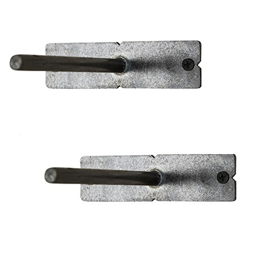 del Hutson Designs Floating Shelf Brackets (Set of 2), Made in USA, Blind Shelf Supports