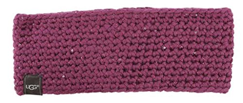 UGG Womens Crochet Headband With Lurex & Sequins In Bougainvillea
