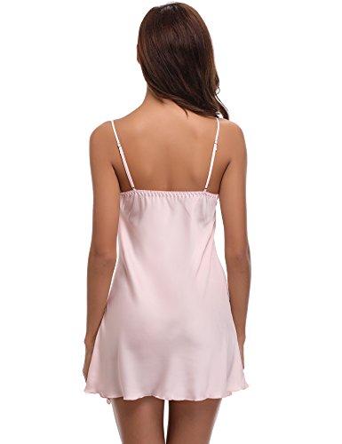 Loungewear Indumenti Donna Kimono Lunghi Da Cintura Rosa Pezzi Per Sposa 2 Raso Abito Elegante Aibrou Notte In Con 3 Nightdress 4T5qxwq7