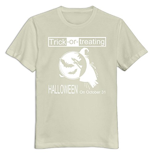 Maquic78h Men's Happy Halloween Day 100% Cotton O Neck T-Shirt Natural US Size 3X]()