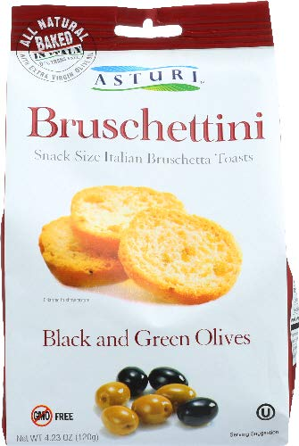 Asturi Bruschettini Black & Green Olives (Pack of 6)