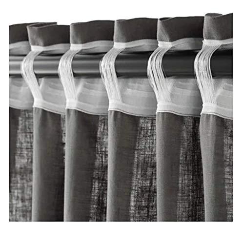 Ikea AINA Gardinenpaar in dunkelgrau; 145x300cm