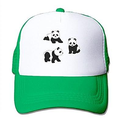 Tiny Panda Adjustable Baseball Cap Snap Back Outdoor Custom Mesh Trucker Hat from Swesa