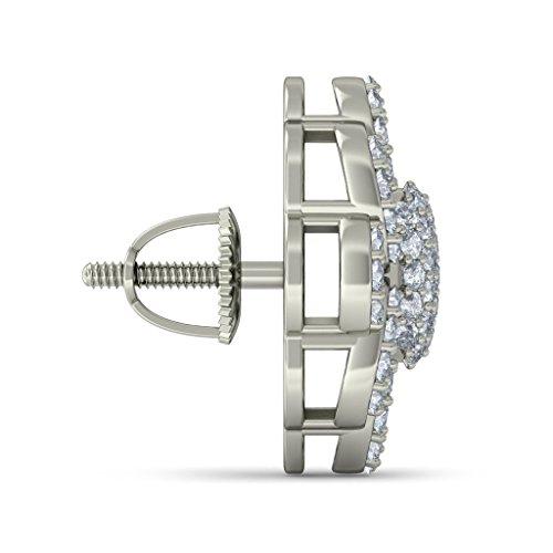 Or blanc 14K 0.702CT TW Round-cut-diamond (IJ | SI) Boucles d'oreille à tige