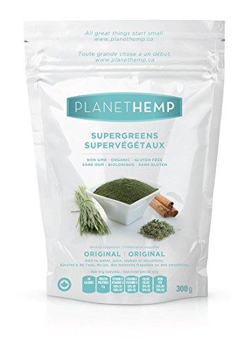 Planet Hemp - Supergreens Organic Plant Protein Drink Mix - 300g by Planet Hemp