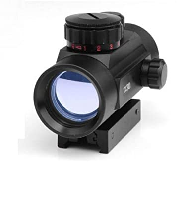 Twod Red Green Dot Sight 1x30mm/1x40mm Rifle scope with 20mm Picatinny Weaver Mount Illuminated Reticle For Hunting
