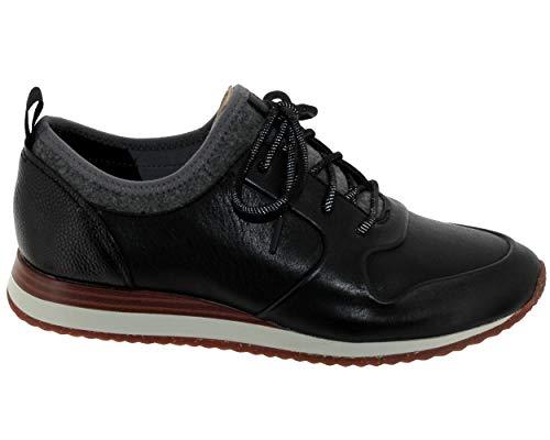 De Negro Clarks Para Eu Zapatos Mujer 40 Cuero Cordones gfzwf
