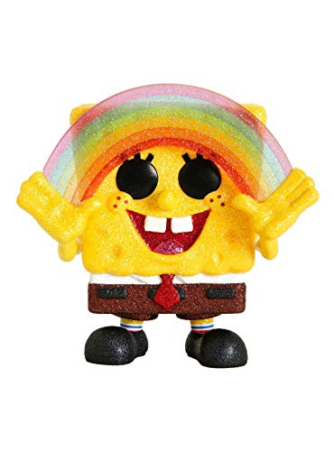 Funko POP! Diamond Collection Spongebob Squarpants #558 Exclusive Bundled with Free PET Compatible 5mm Extra Rigged Protector