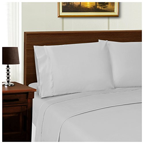 Superior 600 Thread Count Silky Soft Tencel Blend Wrinkle Resistant, 2-Piece King Pillowcase Set, Solid Grey