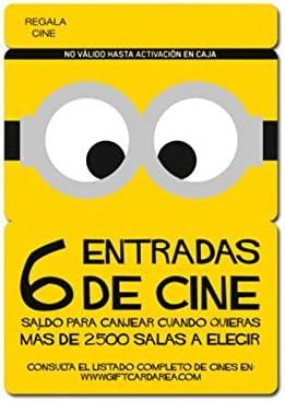 Tarjeta Regalo de entradas de Cine – 6 entradas: Amazon.es: Electrónica