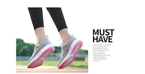 Zapatillas Verano Zapatillas SPEEDEVE Gris con Primavera de Tela Tejida Correr Mujer F5wwqAW1