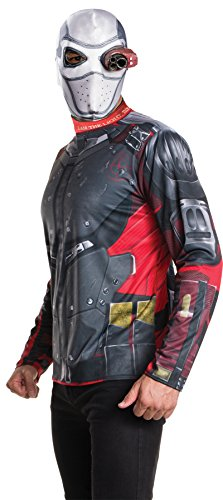 UHC Men's Suicide Squad Deadshot Villain Outfit Adult Halloween Costume Kit, XL (44-50)