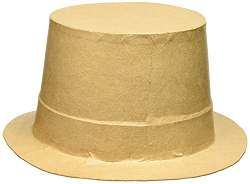Darice Paper Mache Top Hat - 9 x 11 inches
