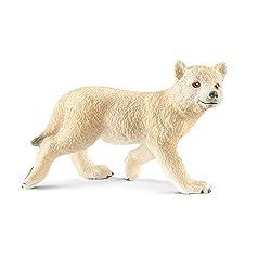 Schleich Arctic Wolf Cub Toy Figurine