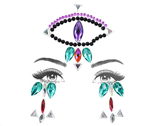 Halloween Glitter Acrylic Adhesive Face Jewels Gems Temporary Tattoo Body Eyes Decor Beauty Make Up