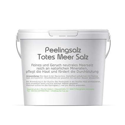 Feines Saunasalz Peeling Salz | aus dem Toten Meer | Duschsalz | Peeling Salz | Kö rperpeeling | Schrubsalz (500 Gramm) Saunahut.de