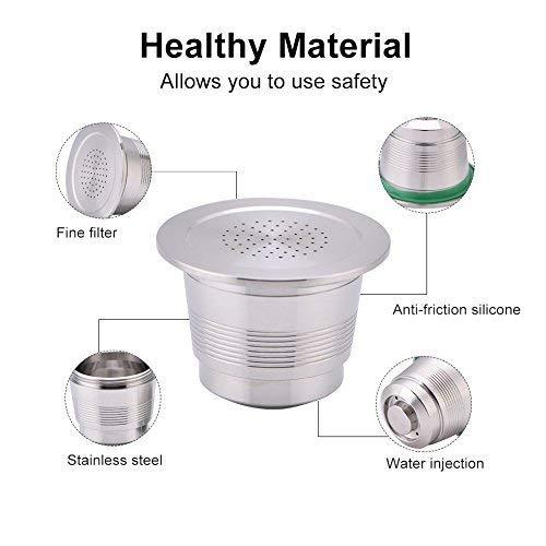 Yosoo Capsules de Caf/éterie Filtre /à Capsule en acier inoxydable pour cafeti/ère /à capsules Nespresso Utilisation illimit/ée