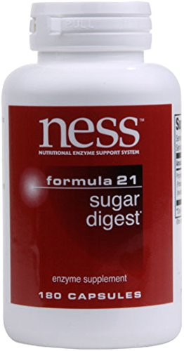 (Ness Enzymes - Sugar Digest #21 180 caps )