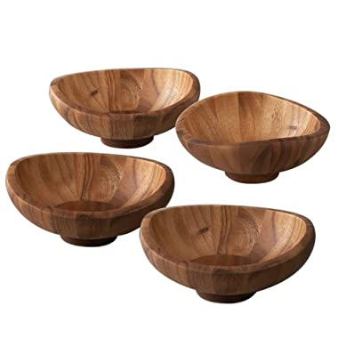 Nambe Butterfly Individual Salad Bowls, Set of 4