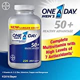Cheap One A Day Men's 50+ Healthy Advantage, Economy valuepack of 440 Tablets total