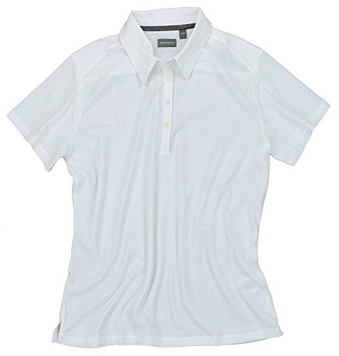 Ashworth Womens Clothing - Ashworth Women's EZ-TECH2 Short Sleeve Solid Polo Shirt (X-Large, White)