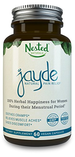 JAYDE - Natural PMS Relief - Safe & Effective Herbal Remedy for Cramps, Irritability, & Menstrual Pain - Natural Herbs Inspired by Ancient Healing Ayurveda - Vegan Capsules, Natural, Non-GMO