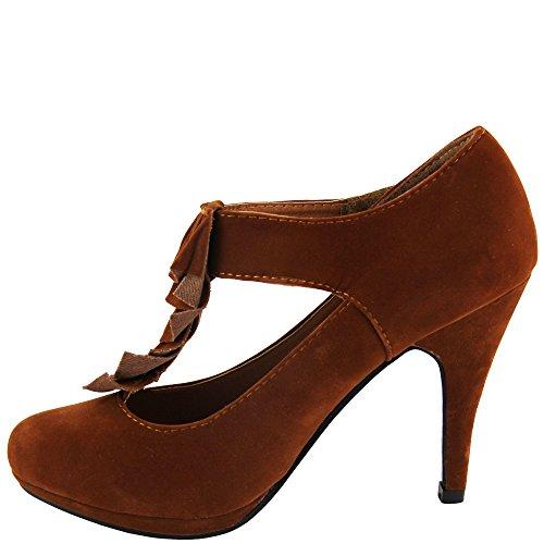 marrón Tira de Unbekannt tobillo Mujer claro T7STqHn
