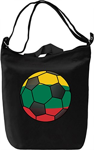 Lithuania Football Borsa Giornaliera Canvas Canvas Day Bag| 100% Premium Cotton Canvas| DTG Printing|