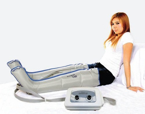 Gradient Compression Pneumatic Therapy Pump and With 2 Full Leg Garments Complete Set