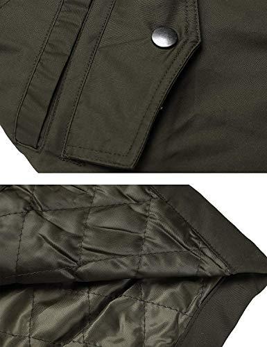 Tasche Manica Marca Mode Outerwear Fashion Coulisse Grün Lunga Casuale Autunno Di Cappuccio Armee Slim Moda Fit Con Vintage Primaverile Donna Giubbino Giubotto Solidi Mantello Giacca Colori xPHqOgwp