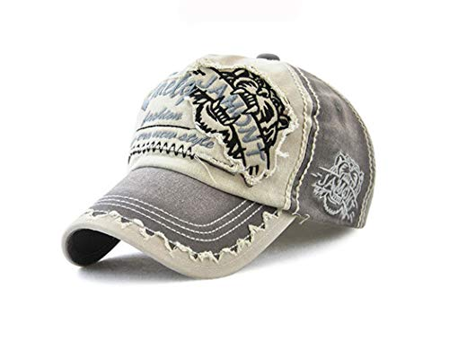 Price comparison product image iMaySon 2019 European Mens Summer Baseball Cap Sunscreen Patch Cotton Outdoors Casual Letter Hat Leisure Color Grey