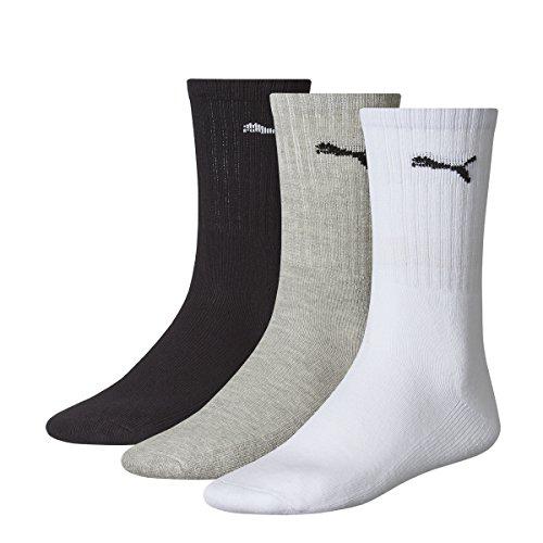 Puma Herren Socks Sport 3P, 325 - white/grey/black, 43-46, 7312