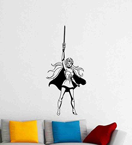 She-Ra Wall Decal Girl Superhero Poster Artwork Vinyl