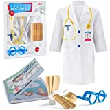Litti City Doctor Kit for Kids - Complete Doctor/ Vet Accessories with White Doctor Coat, Stethoscope & Medical Kit - Doc Coa