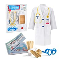 Litti City Doctor Kit for Kids - Complete Doctor/ Vet Accessories with White Doctor...
