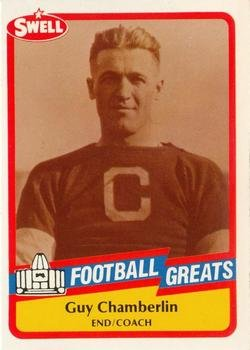 Guy Chamberlin football card (Canton Bulldogs) 1989 Swell Greats #26 Pro Football Hall of Fame End