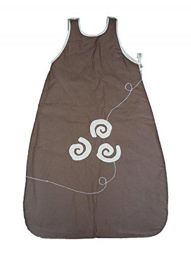 Turbulette And Co-Saco de dormir para bebé verano Toalla de chocolate en color crema