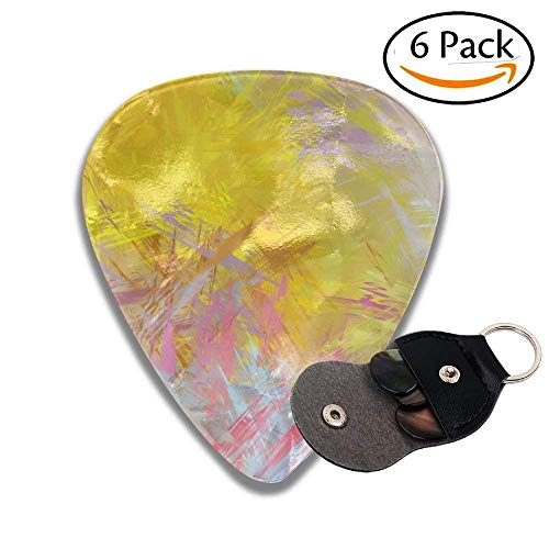 TanJieis Guitar Picks Best Gift For Guitarist Brushed Painted Abstract Background Brush Stroked Painting 96mm For Men Women Kids Guitars ()