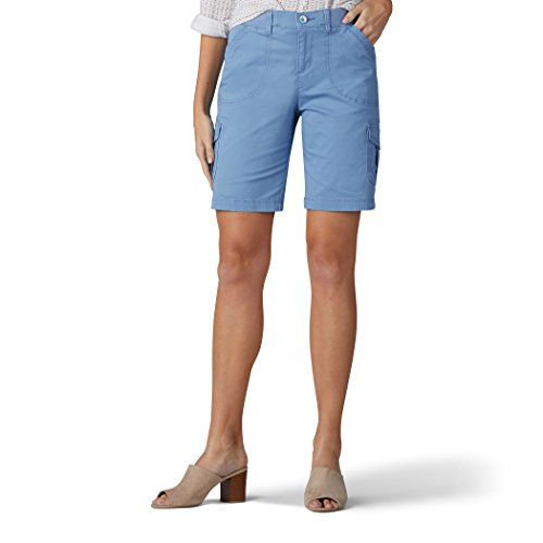 Horizon Utility Short - LEE Women's Relaxed Fit Diani Knit Waist Bermuda Short, Blue Horizon, 4