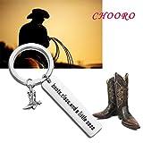 CHOROY Cowgirl Boot Keychain Cowgirl Gift Western