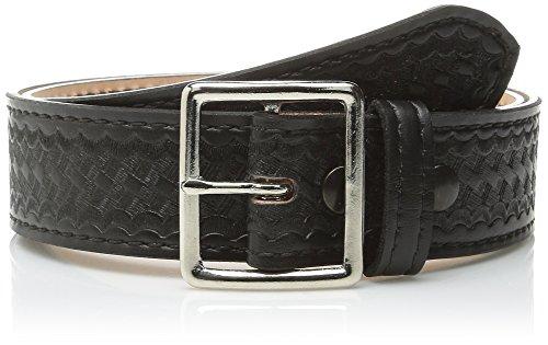 Safariland Duty Gear Garrison Chrome Buckle Belt, Basketweave Black